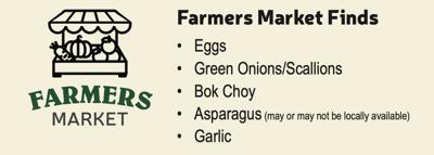 Asparagus and Bok Choy Frittata Farmers Market Finds