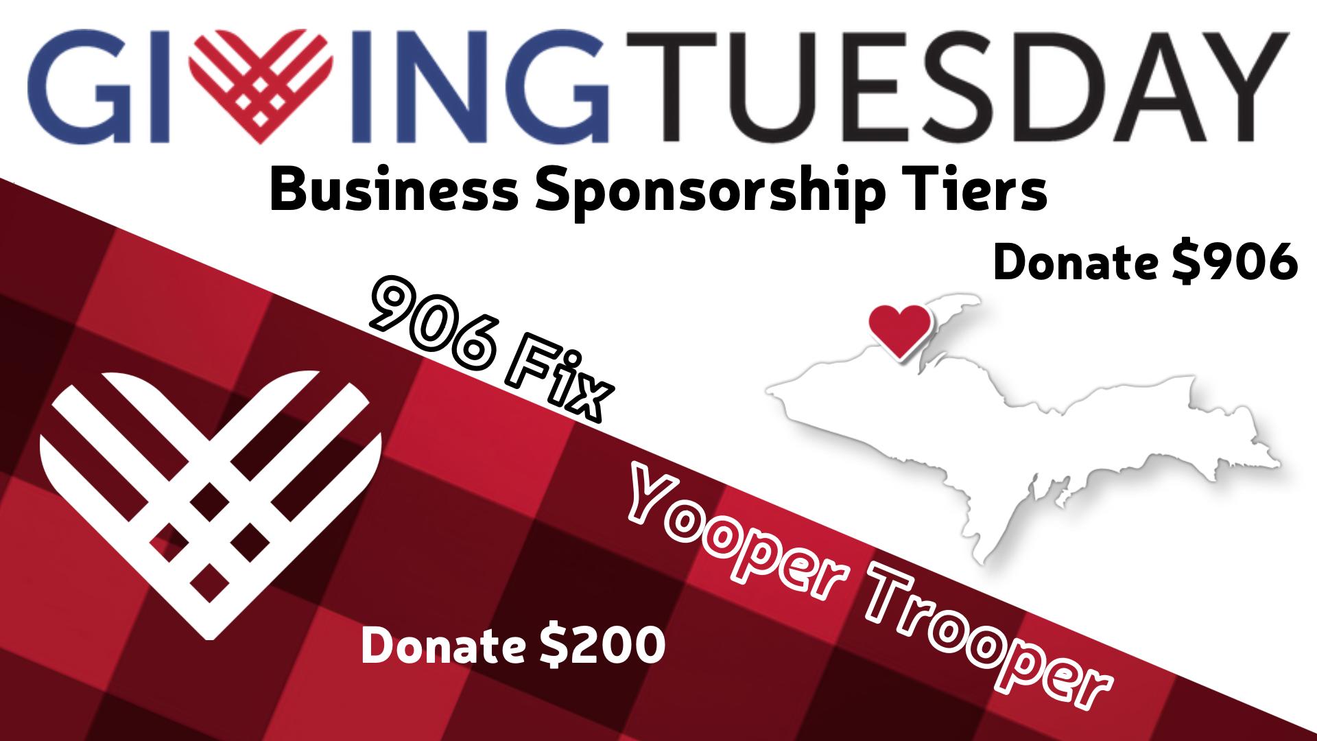 Business Sponsorship Tiers Website