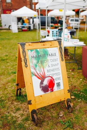 Calumet Farmers Market Sign