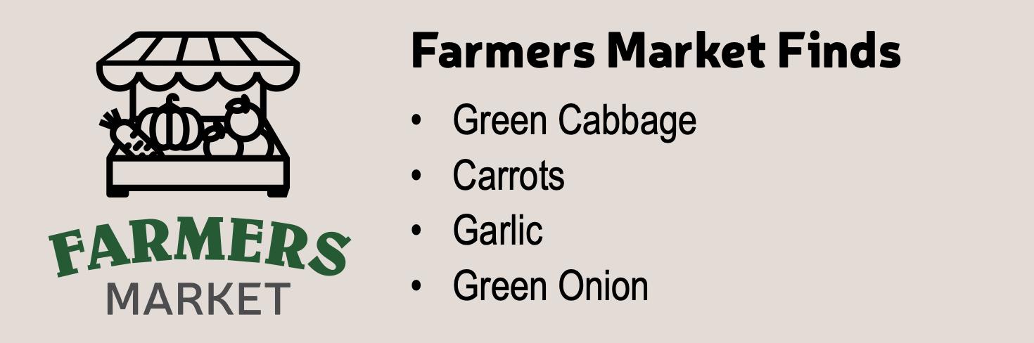 Farmers Market Finds Eggroll Bowls
