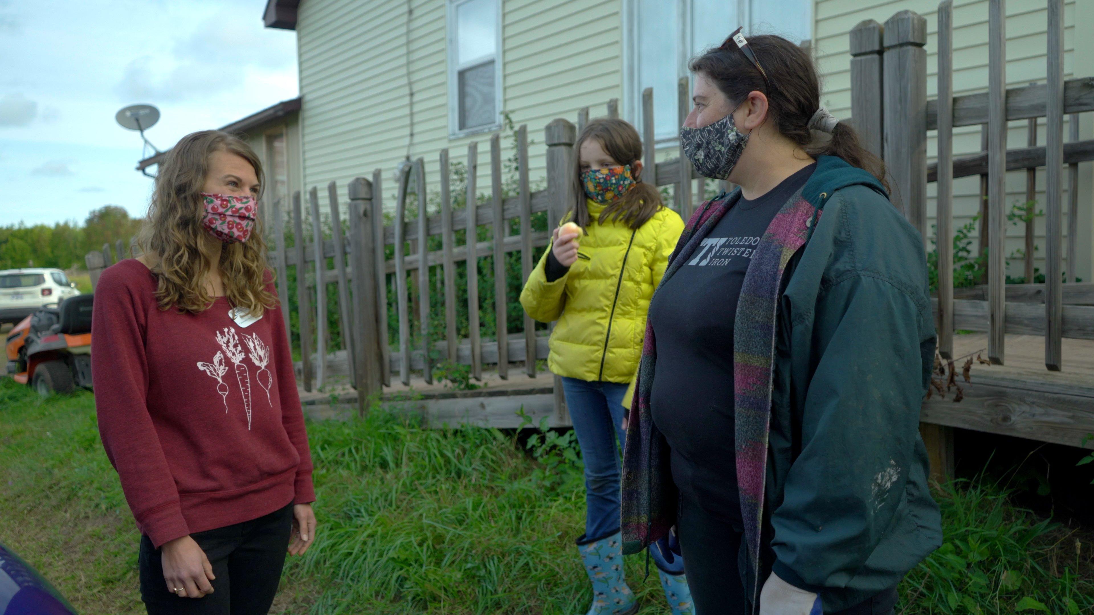 Meghan and Gina at Farm