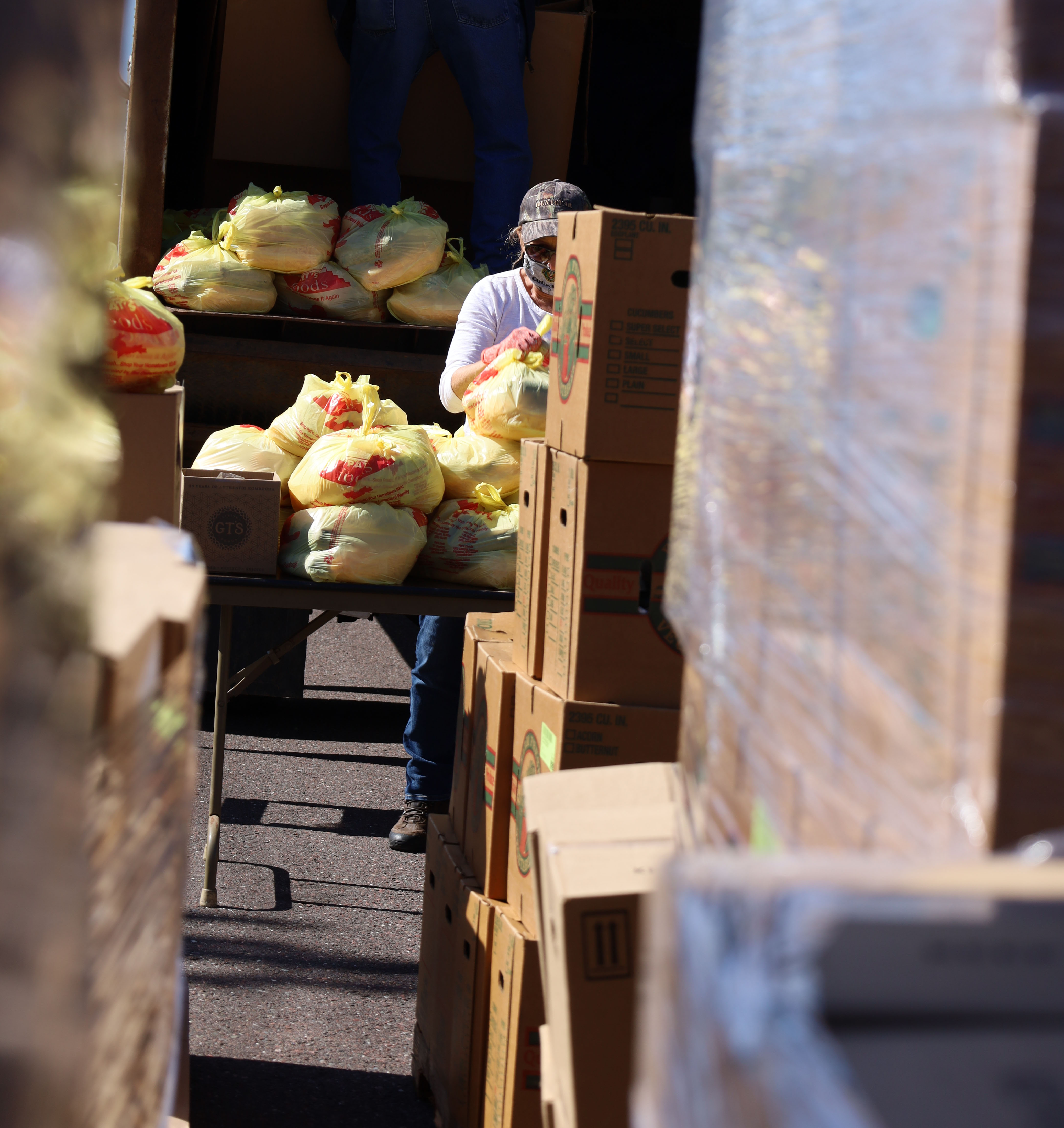 Mobile Food Pantry Boxes in LAnse