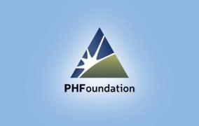 PHF Logo Light Blue Background