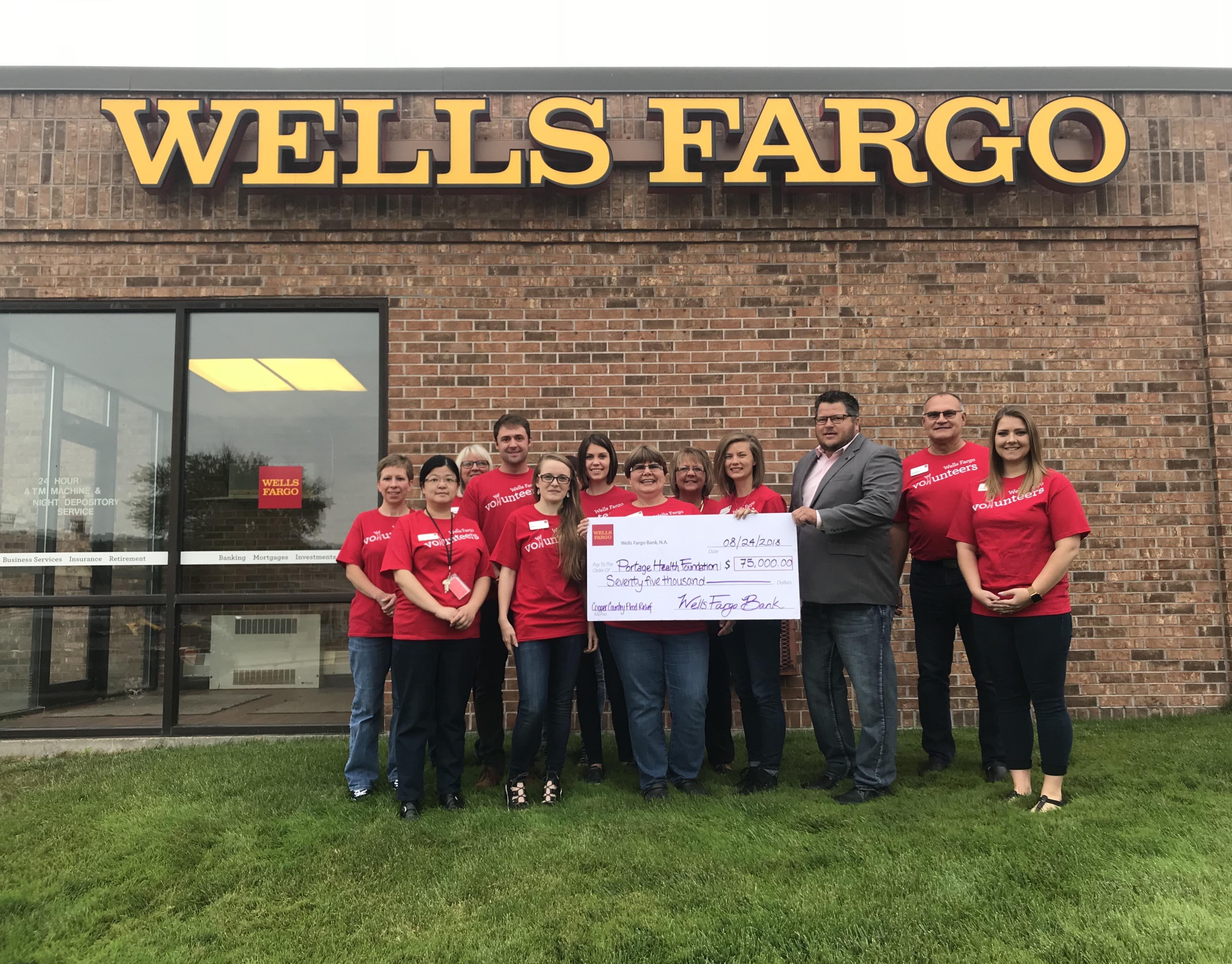 Wells Fargo Donates $75,000