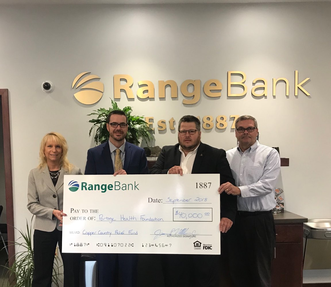 Range Bank Donates $40,000 to PHF