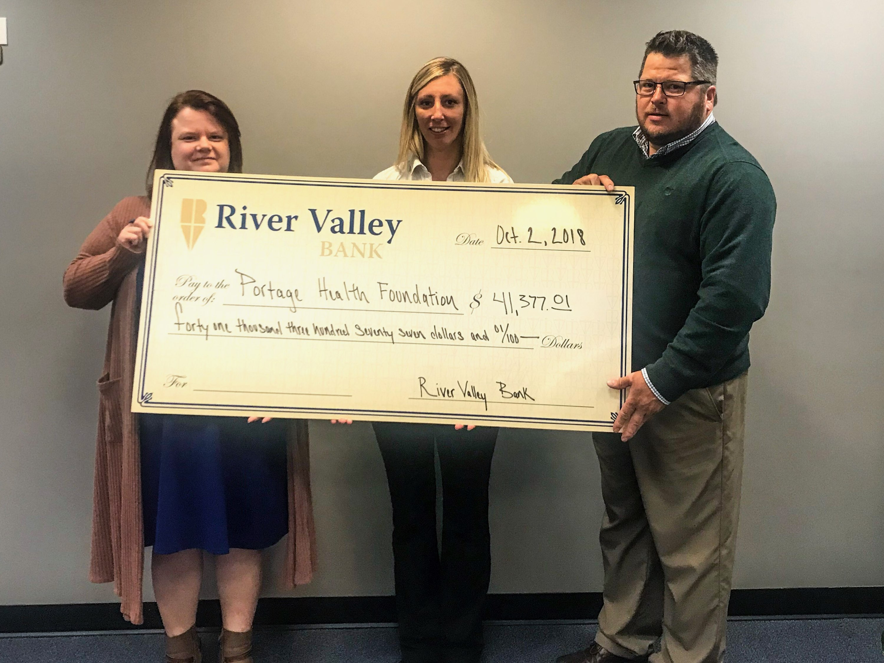 River Valley Bank Foundation matches $20,000